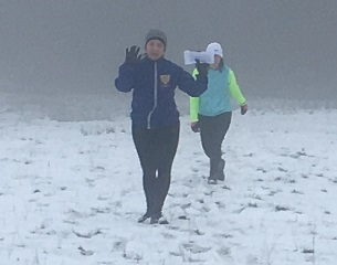 more trail runners in snow