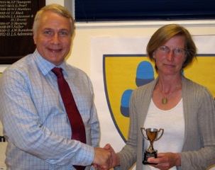 Sally Shewell gets XC prize
