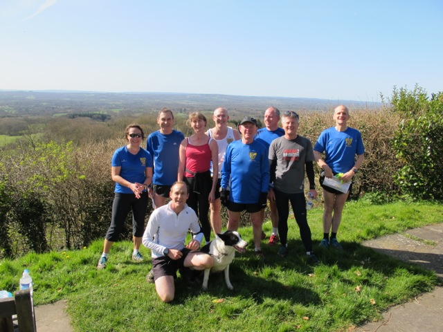 Trail runners at Toys Hill