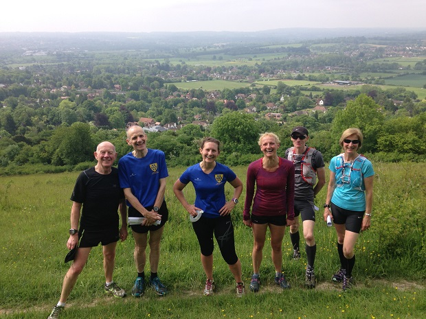 Trail runners above Otford
